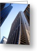 First Nation Bank Photo Greeting Cards - Chase Tower Chicago  Greeting Card by Dean Caminiti