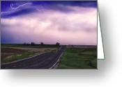 Lightning Bolt Pictures Greeting Cards - Chasing The Storm - County Rd 95 and Highway 52 - Colorado Greeting Card by James Bo Insogna
