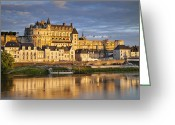 Hubert Greeting Cards - Chateau Amboise Greeting Card by Brian Jannsen