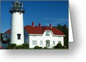 New England Lighthouse Greeting Cards - Chatham Lighthouse Greeting Card by Juergen Roth