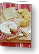 Selection Greeting Cards - Cheese Selection Greeting Card by David Munns