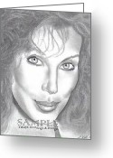 Flyers Drawings Greeting Cards - Cher Greeting Card by Rick Hill