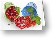 Cherries Greeting Cards - Cherries and currants Greeting Card by Joana Kruse