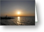 Bill Cannon Photography Greeting Cards - Chesapeake Bay Sunset Greeting Card by Bill Cannon