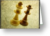 Chess Pieces Greeting Cards - Chess pieces Greeting Card by Bernard Jaubert