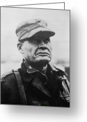 Navy Painting Greeting Cards - Chesty Puller Greeting Card by War Is Hell Store