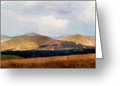 Surroundings Greeting Cards - Cheviots Greeting Card by James Shepherd