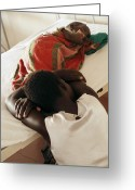 Uganda Greeting Cards - Child Patient, Uganda Greeting Card by Mauro Fermariello