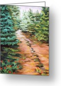 Woods Pastels Greeting Cards - Childhood Memories Greeting Card by Dian Paura-Chellis
