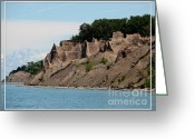 Sandstone Bluffs Greeting Cards - Chimney Bluffs on Lake Ontario Greeting Card by Rose Santuci-Sofranko