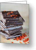 Piece Greeting Cards - Chocolate and Chili Greeting Card by Nailia Schwarz