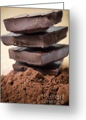 Macro Greeting Cards - Chocolate Greeting Card by Frank Tschakert