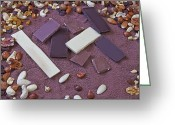Nut Chocolate Greeting Cards - Chocolate Greeting Card by Joana Kruse