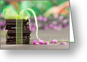 Piece Greeting Cards - Chocolate Greeting Card by Nailia Schwarz