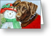 Caught Greeting Cards - Christmas Greeting Card by Irina Sztukowski