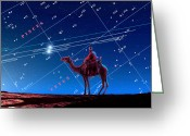 Wise Man Greeting Cards - Christmas Star As Planetary Conjunction Greeting Card by Detlev Van Ravenswaay