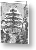 Daughter Gift Greeting Cards - Christmas Tree, 1864 Greeting Card by Granger