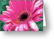 Barbara Painting Greeting Cards - Christys Daisy Greeting Card by Barbara Jewell