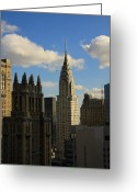 Inside You Greeting Cards - Chrysler Building Greeting Card by Boris REYT