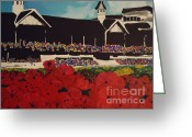 Churchill Downs Greeting Cards - Churchill Downs Greeting Card by Nickie Mantlo