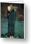 John William Waterhouse Greeting Cards - Circe Invidiosa Greeting Card by John William Waterhouse