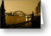 Sydney Harbour. Circular Quay Greeting Cards - Circular Quay Greeting Card by Kirsten Chee