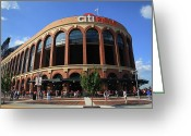 Major Leagues Greeting Cards - Citi Field - New York Mets Greeting Card by Frank Romeo