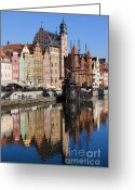 Galleon Greeting Cards - City of Gdansk Greeting Card by Artur Bogacki