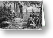 Commission Greeting Cards - Civil War: Wounded Greeting Card by Granger