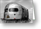 Poster Print Greeting Cards - Classic Airstream caravan Greeting Card by Ian Hufton