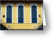 Travelpixpro Greeting Cards - Classic French Quarter Residence New Orleans  Greeting Card by Shawn OBrien