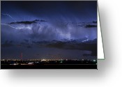 Lightning Bolt Pictures Greeting Cards - Cloud to Cloud Lightning Boulder County Colorado Greeting Card by James Bo Insogna