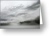 Admiralty Greeting Cards - Clouds And Mist Over Forest, Admiralty Greeting Card by Konrad Wothe