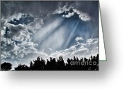 Santa Fe Greeting Cards - Clouds and sky Greeting Card by Matt Suess