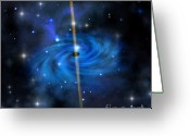 Dimension Greeting Cards - Cluster Galaxy Greeting Card by Corey Ford
