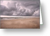 Cumulus Cloud Greeting Cards - Coastal Storm Greeting Card by East Coast Barrier Islands Betsy A Cutler