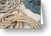 Tying Greeting Cards - Coiled Ropes Greeting Card by Shannon Fagan