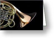 Museum Print Greeting Cards - Color French horn Greeting Card by M K  Miller