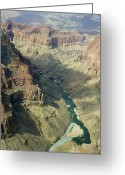 Mac Miller Greeting Cards - Colorado River in the grand Canyon Greeting Card by M K  Miller