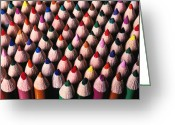 Color Pencils Greeting Cards - Colored pencils Greeting Card by Garry Gay