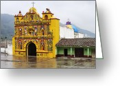 Church Of San Andres Xecul Greeting Cards - Colorful Church of San Andres Xecul Greeting Card by Jeremy Woodhouse