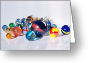Game Greeting Cards - Colorful Marbles Greeting Card by Carlos Caetano