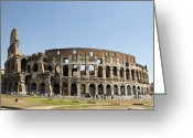 Romans Greeting Cards - Colosseum. Rome Greeting Card by Bernard Jaubert