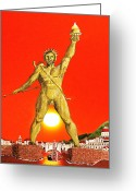 Rhodes Greece Greeting Cards - Colossus Of Rhodes Greeting Card by Eric Kempson