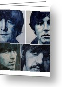 George Harrison Painting Greeting Cards - Come Together Greeting Card by Paul Lovering
