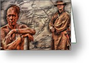 Frontier Art Greeting Cards - Conflict on the Pennsylvania Frontier Greeting Card by Randy Steele