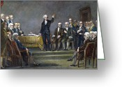 Signing Greeting Cards - Constitutional Convention Greeting Card by Granger
