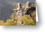 Turning Leaves Greeting Cards - Coopers Rock Overlook Greeting Card by Mark Lehar