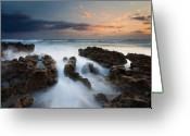 Sunrise Greeting Cards - Coral Cove Dawn Greeting Card by Mike  Dawson