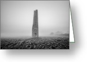 Cornwall Greeting Cards - Cornish mine chimney Greeting Card by John Farnan